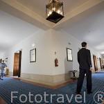 Largos pasillos con habitaciones. Pousada Castelo de Palmela. PALMELA. Portugal