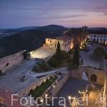 Vista de la poblacion de PALMELA desde lo alto del castillo de Pamela. Portugal