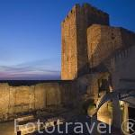 Ruinas de la iglesia de Santa Maria a los pies del torreon del castillo de Pamela. PALMELA. Portugal