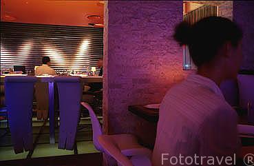 Restaurante. Hotel The Water Club. En las afueras de la ciudad de SAN JUAN. Puerto Rico.