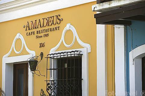 Cafe restaurante Amadeus. Ciudad vieja de SAN JUAN. Puerto Rico