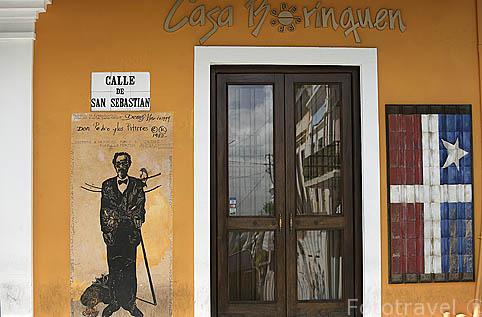 Restaurante Casa Borinquen en la calle de San Sebastian. Ciudad vieja de SAN JUAN. Puerto Rico