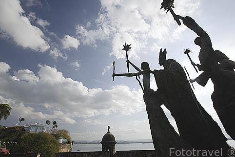 Monumento a la Rogativa. Ciudad vieja de SAN JUAN. Puerto Rico