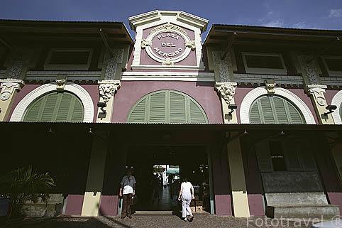 Entrada al mercado de SANTURCE. San Juan. Puerto Rico