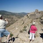 Teatro. III.a.C. Ruinas de Pergamo en lo alto de la colina. PERGAMO / BERGAMA. Egeo. Turquia.