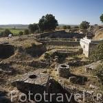 Muros de entrada. Ruinas de la antigua ciudad de TROYA. Egeo. Turquia.