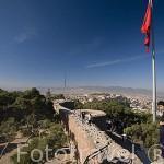 Vista desde lo alto de la fortaleza de Kadifekale, antiguo monte Pagos. Ciudad de ESMIRNA / IZMIR. Egeo. Turquia
