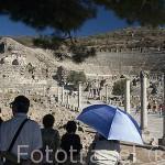 Vista del teatro romano, s.I d.C. con capacidad para 20.000 personas. Ruinas de EFESO / EPHESUS. Egeo. Turquia