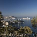 La ciudad de KUSADASI o Isla de los Pajaros. Mar Egeo.Turquia