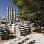 Columnas jonicas en el templo de Atenea. Ciudad griega de PRIENE., s.XI a.C. Pertenecia a 1 de las 12 colonias de la Confederación Jonica. parte del imperio Otomano en s.XIV. Mar Egeo. Turquia