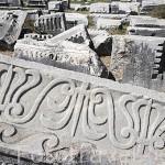 Detalle de un friso. Teatro romano, s.II d.C. Ruinas de MILETO / BALAT. Costa del mar Egeo. Turquia
