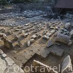 Ruinas de Mausoleum, s.III d.C. Ciudad de BODRUM, antigua Halicarnaso. Costa del mar Egeo. Turquia