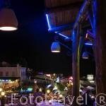 Restaurante Windmill frente a la plaza Gumbet. Cerca de la ciudad de BODRUM, antigua Halicarnaso. Costa del mar Egeo. Turquia