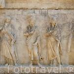 Detalle de un sarcofago en AFRODISIAS. Costa del mar Egeo. Turquia