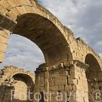 Restos de la basilica cristiana de 3 naves. s.VI, d.C. construida sobre el templo de Apolo. Ruinas de HIERAPOLIS. Turquia