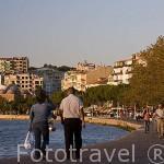 Paseo maritimo de la ciudad de CANAKKALE. Mar Egeo. Turquia