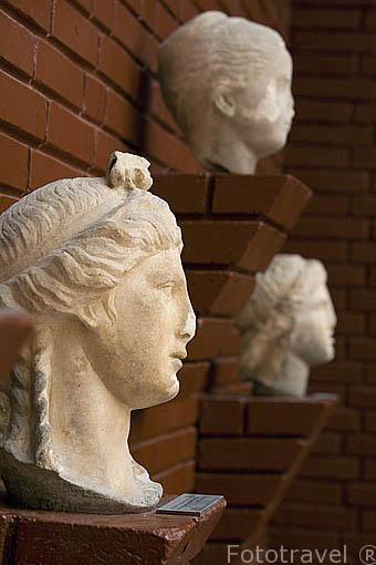 Diferentes bustos en el Museo de EFESO / EPHESUS.Costa del mar Egeo. Turquia