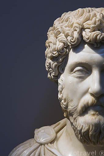 Busto de Marco Aurelio, s.IV a.C. Museo de EFESO / EPHESUS.Costa del mar Egeo. Turquia