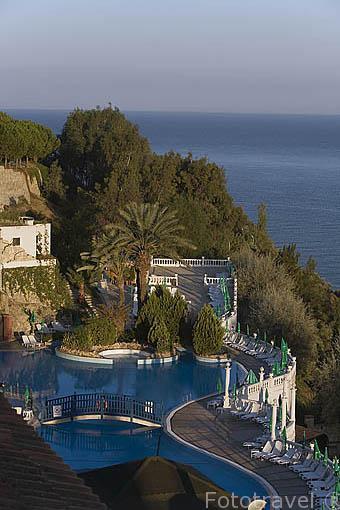 Piscina. Hotel Club Ephesus frente al mar Egeo. KUSADASI. Turquia