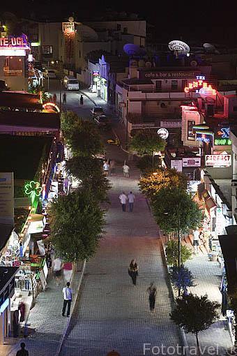 Bares, restaurantes y discotecas se dan cita en los alredores de la plaza de Gumbet, en las afueras de BODRUM, antigua Halicarnaso. Costa del mar Egeo. Turquia