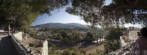Vistas sobre el valle desde la Basilica bizantina, s.VI d.C. Cerca de las ruinas de EFESO / EPHESUS. Egeo. Turquia