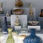 Piezas de cristal, varias épocas. Museo de la ciudad de ANTALYA. Turquia