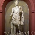 Escultura de Publio Elio Adriano, emperador de roma. s.II d.C. Museo de la ciudad de ANTALYA. Turquia