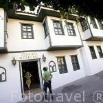 Fachada del hotel Turk Evi en el casco historico de la ciudad de ANTALYA. Turquia