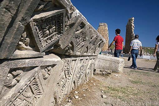 Ruinas de la antigua ciudad de PERGE. Se cree que fue fundada por los Akhas en el 2000 a.C. Posteriormente fueron conquistadas por Alejandro Magno en el 333 a.C. Turquia