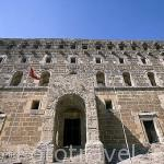 Fachada del teatro romano de ASPENDO. En su interior se organizan eventos y conciertos por su buena acustica. Provincia de Antalya. Turquia