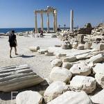 El templo de Apolo. Ruinas de SIDE junto al mar Mediterraneo. Provincia de Antalya. Turquia