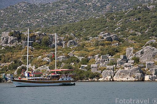 Pueblo pesquero de UCAGIZ. Mar Mediterraneo. Provincia de Antalya. Turquia