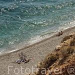 Playa de Konyaalti a las afueras de la ciudad de ANTALYA. Mar Mediterraneo. Turquia