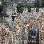 Vista de las murallas que bordean parte de la ciudad de ALANYA. Mar Mediterraneo. Provincia de Antalya. Turquia