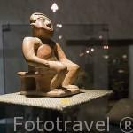 Piezas de culturas precolombinas. Museo arqueologico de la Merced. Santiago de CALI. Valle del Cauca. Colombia
