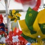 Molinillos. Puestos de venta de productos tipicos y turisticos. Parque artesanal Lomas de San Antonio. Santiago de CALI. Valle del Cauca. Colombia