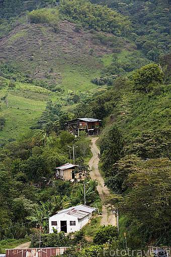 Vista de Territorio Paraiso. Valle del Cauca. COLOMBIA.