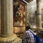 Talla en madera del Señor de los Milagros de Buga. En 1937,el Cardenal Pacelli (futuro Papa Pío XII) decreto que se nombraba a este templo como Basilica del Sr. de los Milagros. BUGA. Colombia