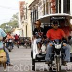 Moto taxi. Ciudad colonial de MOMPOX. Patrimonio de la Humanidad, UNESCO. Isla más grande de Suramerica. Colombia. Suramerica
