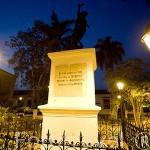 Plaza de la Libertad. Ciudad colonial de MOMPOX. Patrimonio de la Humanidad, UNESCO. Isla más grande de Suramerica. Colombia. Suramerica