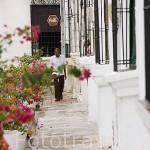 Calle de San Agustin.Ciudad colonial de MOMPOX. Patrimonio de la Humanidad, UNESCO. Isla más grande de Suramerica. Colombia. Suramerica
