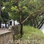 Calle Albarrada de San Rafael junto al rio Magdalena. Ciudad colonial de MOMPOX. Patrimonio de la Humanidad, UNESCO. Isla más grande de Suramerica. Colombia. Suramerica