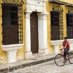 Casa de estilo colonial en la calle Nuestra Señora de Covadonga.Ciudad colonial de MOMPOX. Patrimonio de la Humanidad, UNESCO. Isla más grande de Suramerica. Colombia. Suramerica