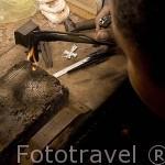 Taller de Jose Davila y piezas de filigrana en plata. Ciudad de MOMPOX. Patrimonio de la UNESCO. Colombia. Suramerica