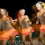 Bailes tradicionales caribeños en la ciudad colonial de MOMPOX. Colombia. Suramerica