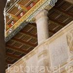 Planta superior del claustro principal del convento de Santa Clara de la Columna. Fundado en 1476 por Doña Elvira de Zuñiga. BELALCAZAR. Comarca de Los Pedroches. Cordoba. España