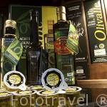 Variedades de aceite de oliva, virgen extra y ecologico. Olivarera Los Pedroches. POZOBLANCO. Comarca de Los Pedroches. Cordoba. España