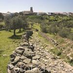 Vista de la poblacion de BELALCAZAR desde el castillo. Comarca de Los Pedroches. Cordoba. España