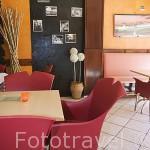 Interior del restaurante La Bolera. Poblacion de BELALCAZAR. Comarca de Los Pedroches. Cordoba. España