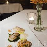 """Plato """"Ensalada de frutos del mar"""". Restaurante La Bolera. Poblacion de BELALCAZAR. Comarca de Los Pedroches. Cordoba. España"""